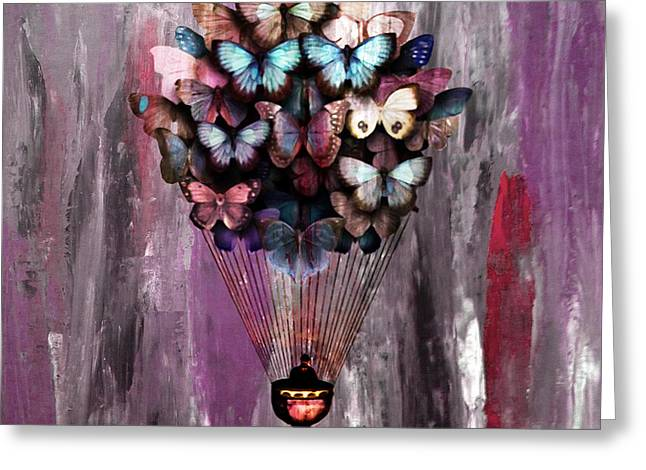 Butterfly Cart 05 Greeting Card by Gull G