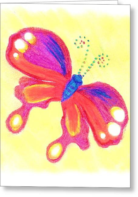 Single Pastels Greeting Cards - Butterfly Greeting Card by Chandelle Hazen