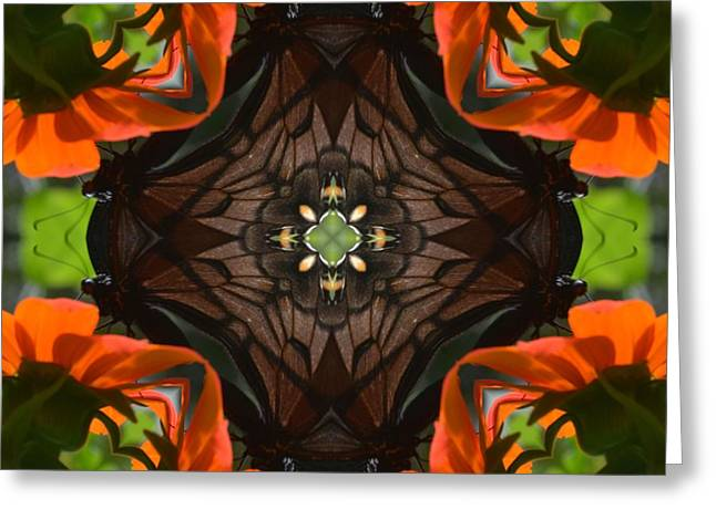 Butterfly Corner Greeting Card by Chad Wasden