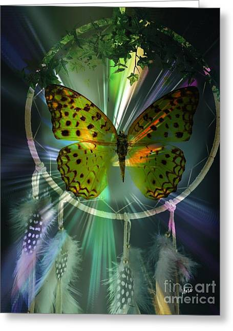 Butterfly Dreamcatcher Greeting Card