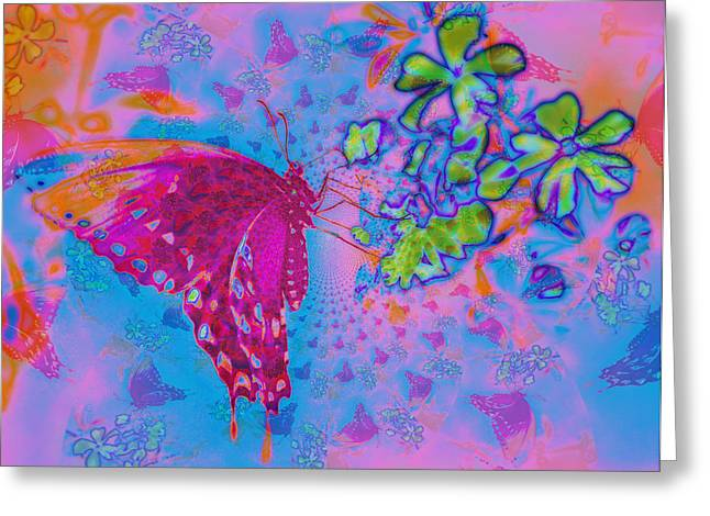 Butterfly Dreams Greeting Card by Rose  Hill