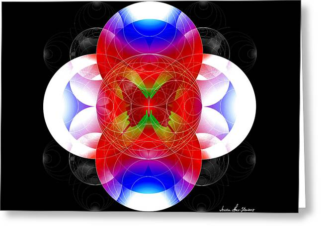 Greeting Card featuring the digital art Butterfly Effect by Iowan Stone-Flowers