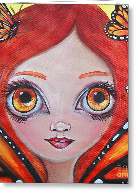 Butterfly Fairy Greeting Card by Jaz Higgins