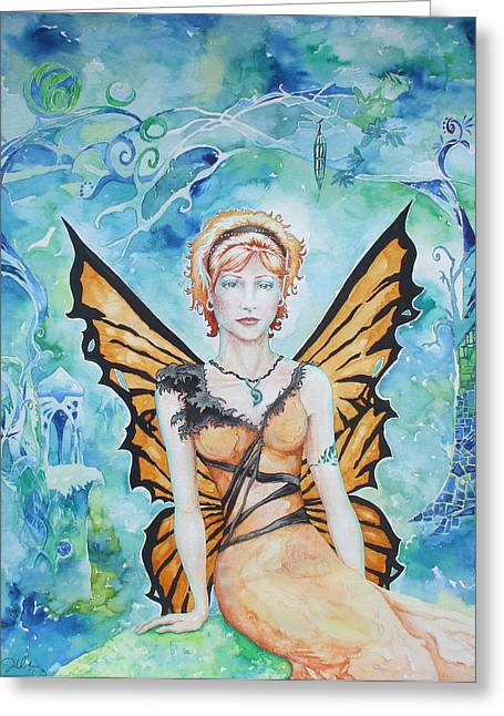 Butterfly Fairy Greeting Card by Jennifer Bonset