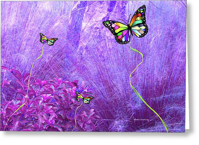 Butterfly Fantasy Greeting Card by Rosalie Scanlon