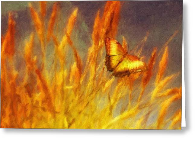 Butterfly Field By Js Greeting Card by Esoterica Art Agency