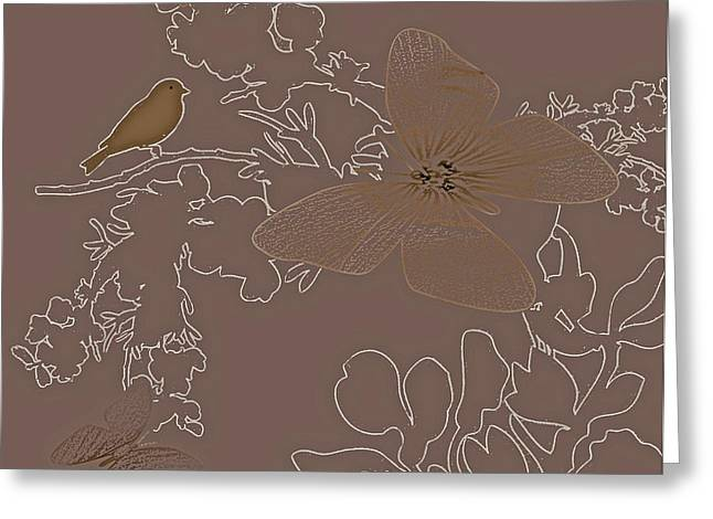 Butterfly Floral  9 Greeting Card by Debra     Vatalaro