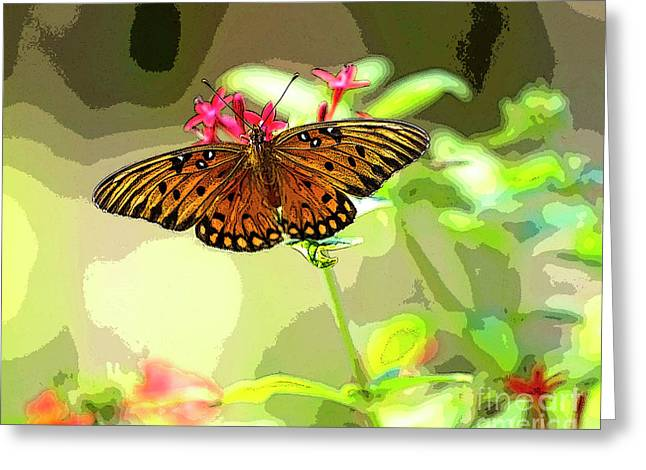 Butterfly Flutter By Greeting Card