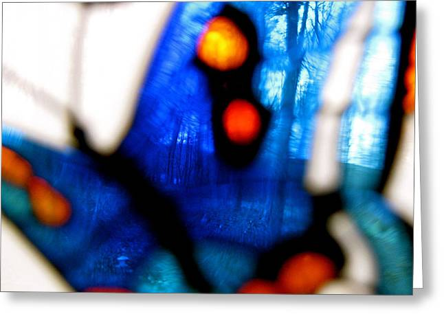 Photos Of Autumn Digital Greeting Cards - Butterfly Forest   A Greeting Card by Debra     Vatalaro