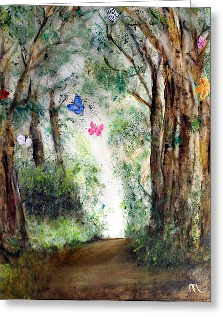 Butterfly Forest Greeting Card by Michela Akers