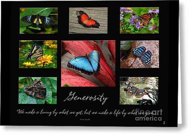 Butterfly Generosity Collage Greeting Card by Diane E Berry