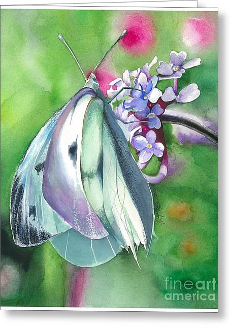 Butterfly Kisses Greeting Card by Maya Marcotte