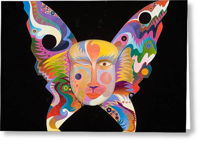 Butterfly Mask Greeting Card by Bob Coonts