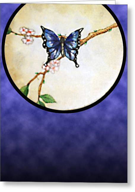 Butterfly Moon Greeting Card
