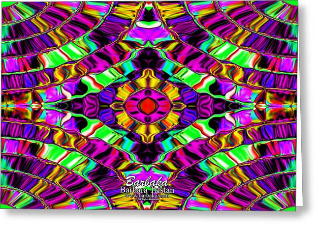 Butterfly Morph Greeting Card by Barbara Tristan