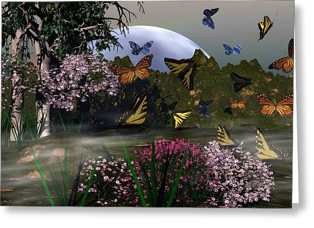 Butterfly Mountain Greeting Card by Eva Thomas