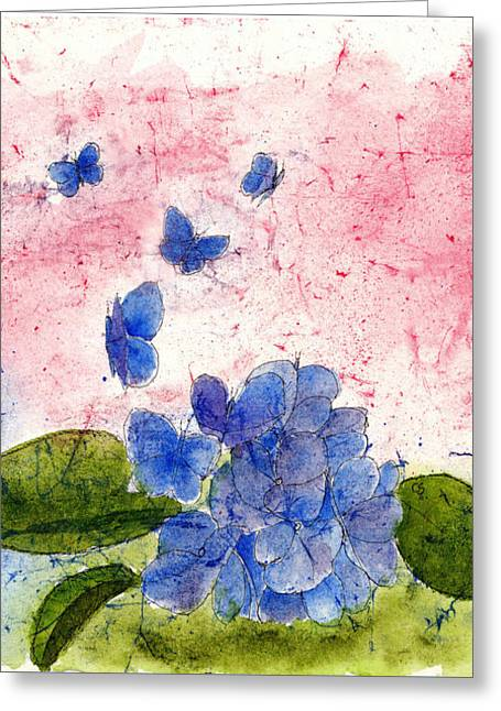 Butterflies Or Hydrangea Flower, You Decide Greeting Card