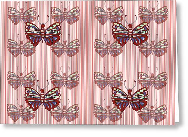 Butterfly Pattern Greeting Card by Kathleen Sartoris