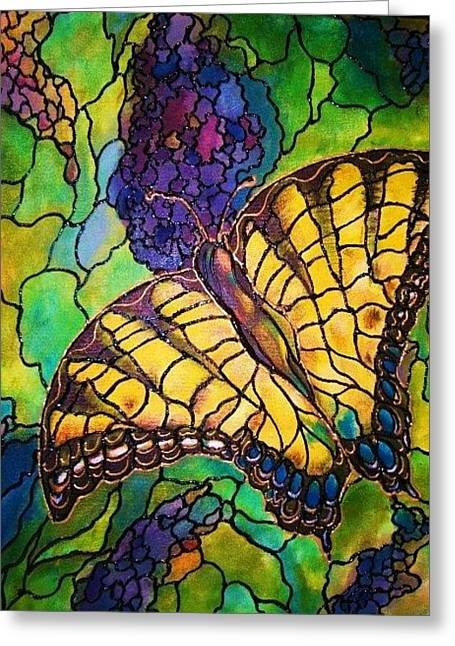 Greeting Card featuring the painting Butterfly by Rae Chichilnitsky