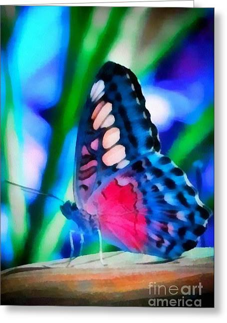Butterfly Realistic Painting Greeting Card