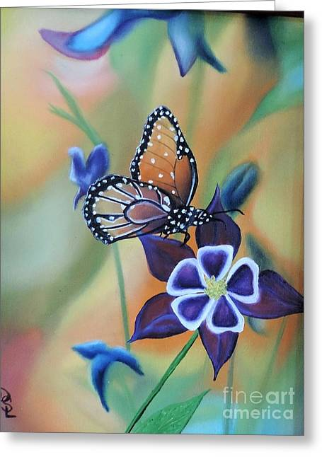 Greeting Card featuring the painting Butterfly Series#4 by Dianna Lewis