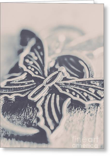 Butterfly Shaped Charm Greeting Card by Jorgo Photography - Wall Art Gallery