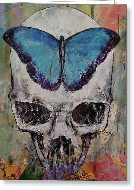Butterfly Skull Greeting Card