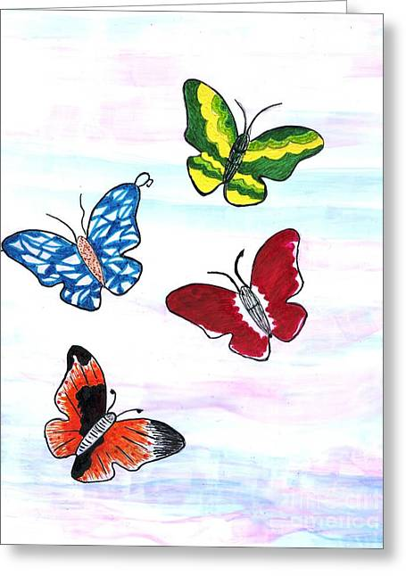 Butterfly Tag Greeting Card