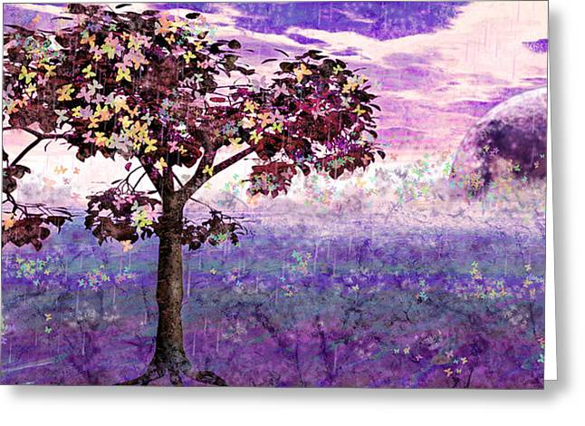 Greeting Card featuring the digital art Butterfly Tree by Margaret Hormann Bfa