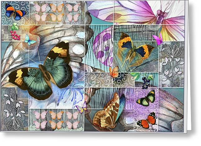 Butterfly Wings Collage Greeting Card