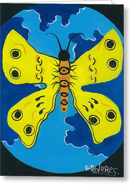 Butterfly World Greeting Card by Herold Alvares