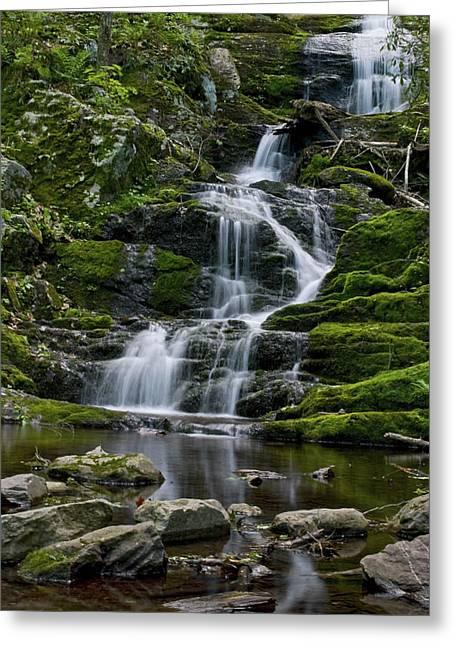 Buttermilk Falls Greeting Card by Andrew Kazmierski
