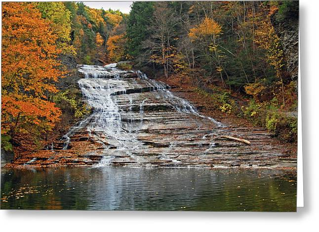 Buttermilk Falls Greeting Card by Ben Prepelka