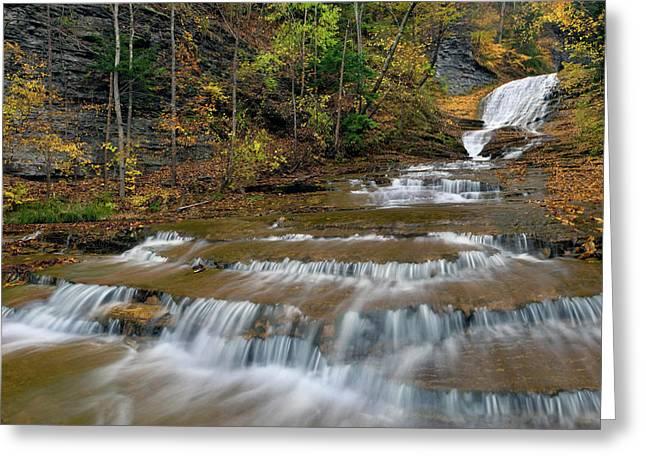 Buttermilk Falls Greeting Card by Dean Hueber