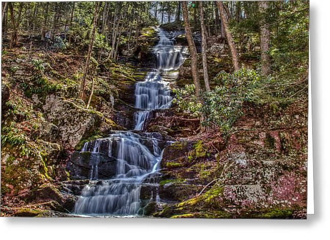 Buttermilk Falls Greeting Card by Don Edwards