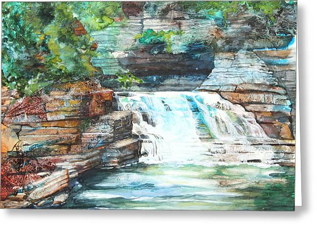 Best Sellers -  - Buttermilk Falls Greeting Cards - Buttermilk Falls II Greeting Card by Patricia Allingham Carlson