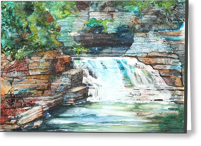 Buttermilk Falls II Greeting Card by Patricia Allingham Carlson