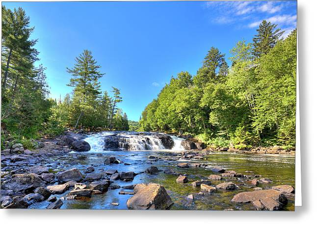 Buttermilk Falls In The Adirondacks Greeting Card