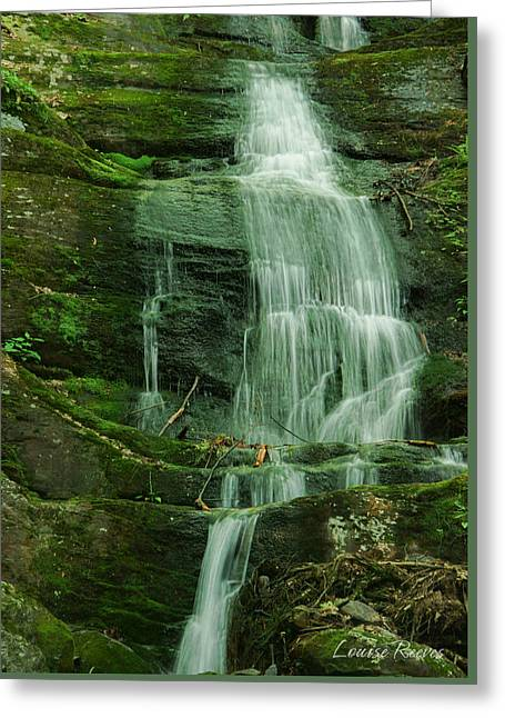 Buttermilk Falls Greeting Card by Louise Reeves