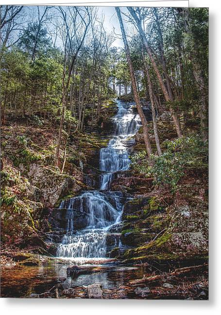 Buttermilk Falls - Natures Beauty Greeting Card by Don Edwards