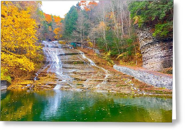 Buttermilk Falls  Greeting Card by Patrick O'Leary