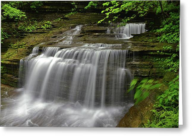Buttermilk Falls State Park Greeting Card by Dean Hueber