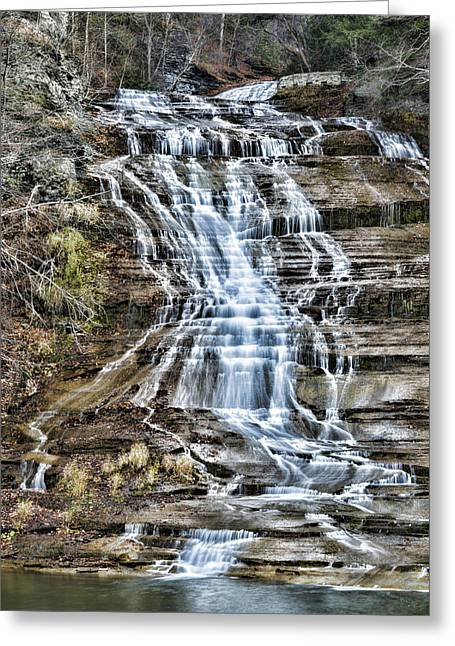 Buttermilk Falls Greeting Card by Stephen Stookey