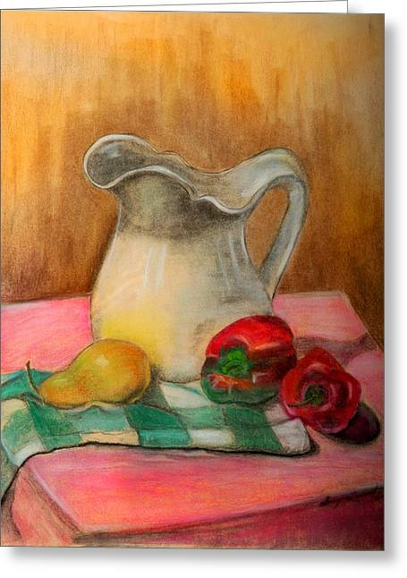 Buttermilk Pitcher Greeting Card by Shirley Lawing