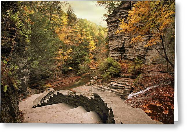 Buttermilk Upper Falls Greeting Card by Jessica Jenney