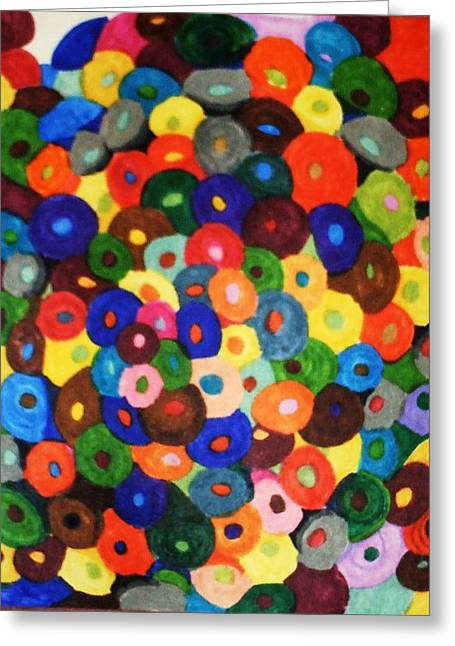 Button Buttons Whose Got The Buttone One Greeting Card by Brenda Adams