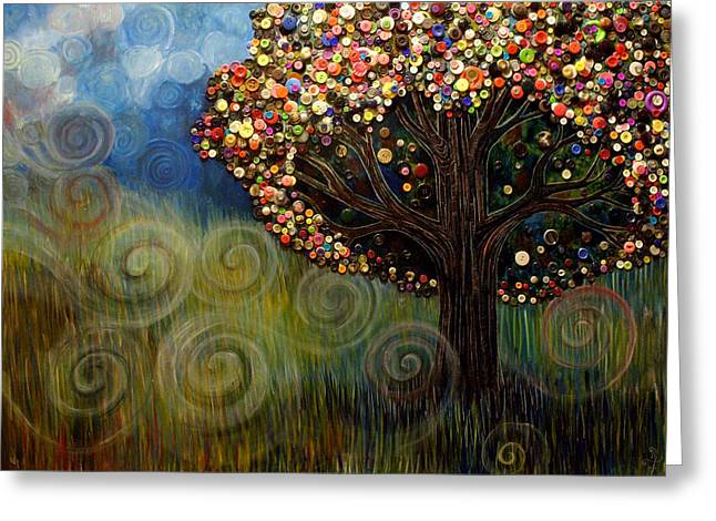 Button Tree 0003 Greeting Card