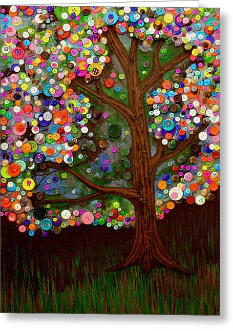 Button Tree 0007 Greeting Card