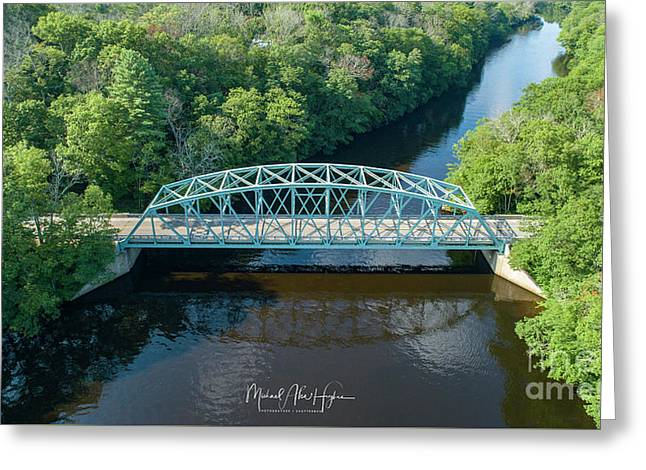 Greeting Card featuring the photograph Butts Bridge Summertime by Michael Hughes