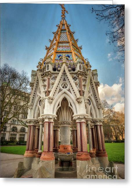 Buxton Memorial London Greeting Card by Adrian Evans